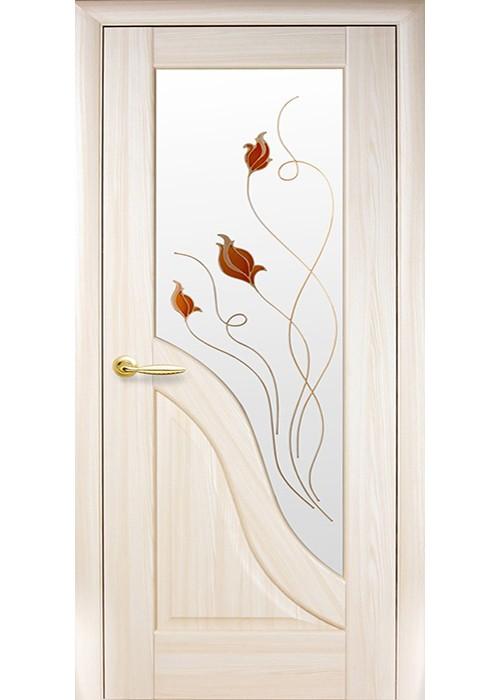 Межкомнатные двери Амата стекло + ФП ясень