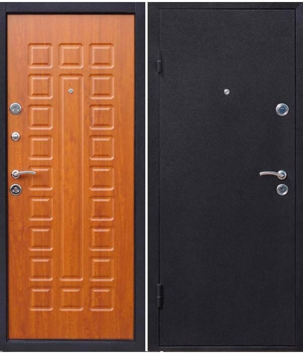 Дверь - Входные двери Йошкар МДФ Золотисты й дуб+молоток
